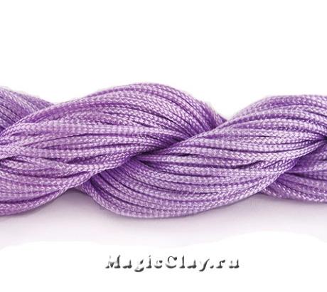 Шнур нейлоновый для Шамбалы 1мм Сиреневый, 1 моток (~26метров)