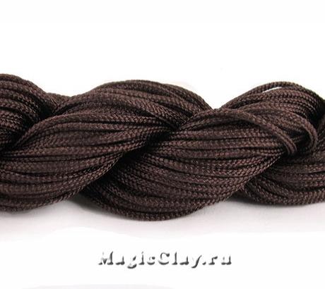 Шнур нейлоновый для Шамбалы 1мм Коричневый, 1 моток (~26метров)