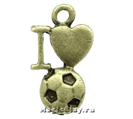Подвеска Любовь к Спорту 17х10мм, цвет античная бронза, 1шт