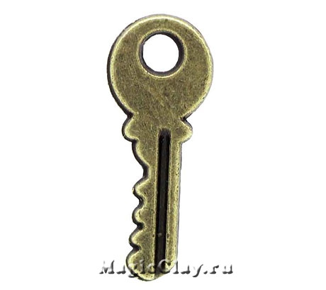 Подвеска Ключик от Дома 19х7,5мм, цвет бронза, 1шт