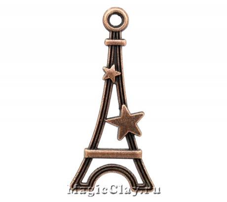 Подвеска Звезда Парижа 29х13мм, цвет медь, 1шт