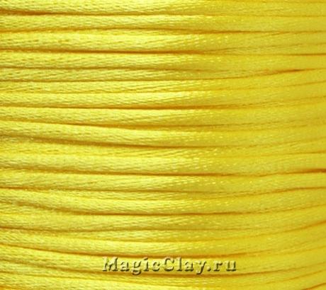 Шнур нейлоновый 2мм Желтый Солнечный, 5 метров