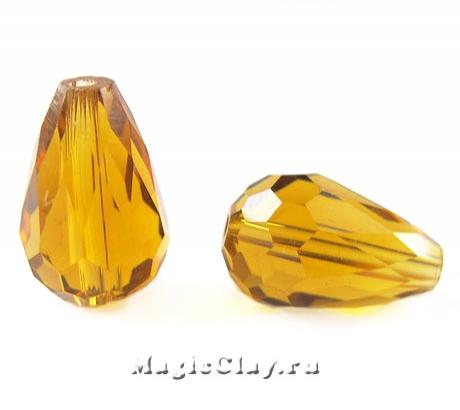 Бусины Капля Цветочный Мёд 15х10мм, 10шт