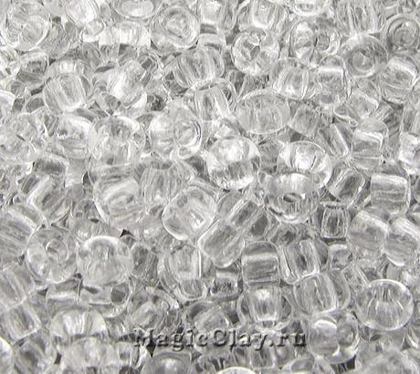 Бисер чешский 10/0 Прозрачный, 00050 Crystal, 50гр