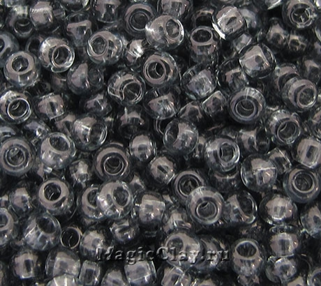 Бисер чешский 10/0 Прозрачный, 40010 Black Diamond, 41гр
