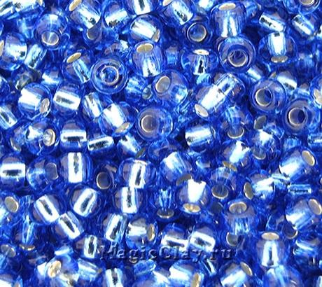 Бисер чешский 10/0 Прозрачный, 37030 Light Sapphire, 41гр