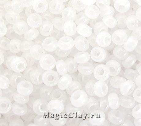 Бисер чешский 10/0 Алебастр, 02090 White Alabaster, 41гр