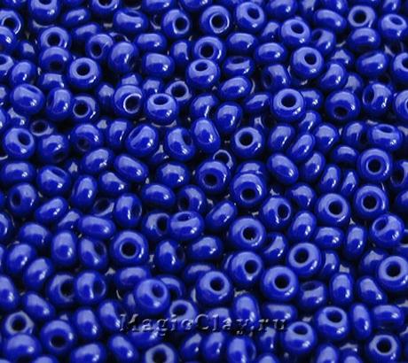 Бисер чешский 10/0 Непрозрачный, 33070 Dark Royal Blue, 50гр