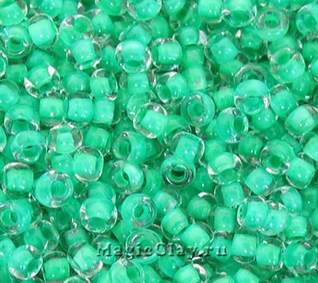 Бисер чешский 10/0 Кристалл, 38358 Turquoise Green, 50гр