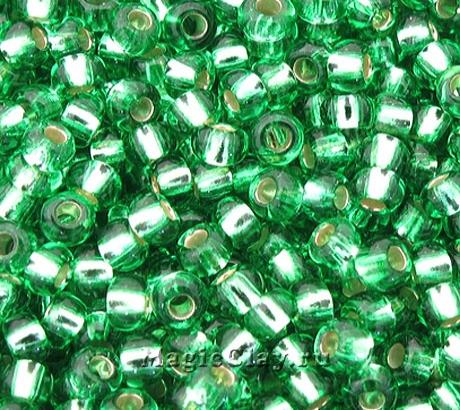 Бисер чешский 10/0 Прозрачный, 57100 Peridot, 41гр