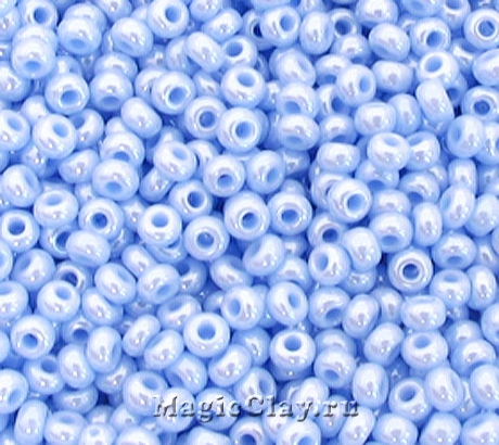 Бисер чешский 10/0 Непрозрачный, 38000 Pale Blue, 41гр