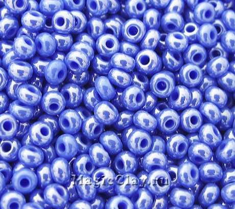 Бисер чешский 10/0 Непрозрачный, 38040 Blue, 50гр