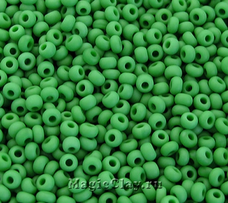 Бисер чешский 10/0 Непрозрачный, 53250matt Green, 41гр