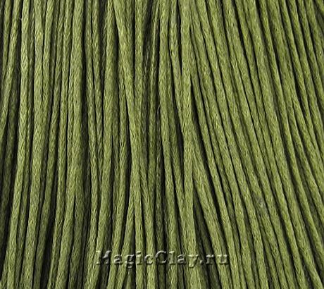 Шнур вощеный 1мм Оливковый, 1 связка (~80метров)