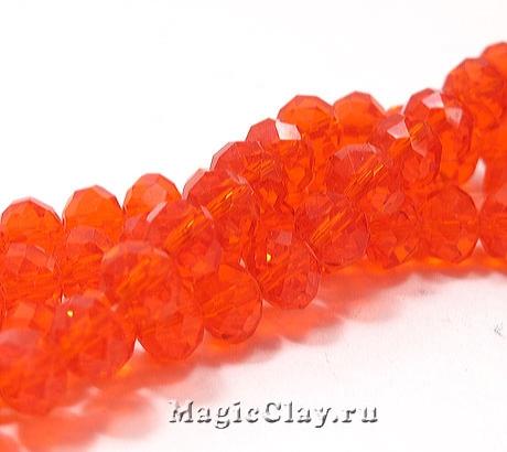 Бусины рондели Оранжевый Шафран 6х4мм, 1уп (~95шт)