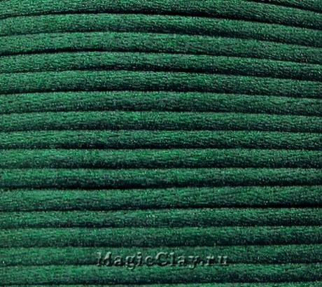 Шнур нейлоновый 2мм Зелёный Тёмный, 5 метров