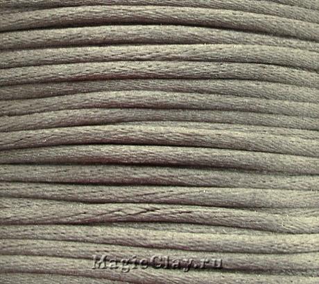 Шнур нейлоновый 2мм Серый Бежевый, 5 метров