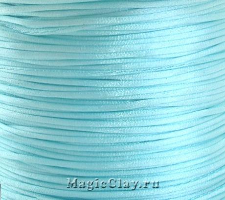 Шнур нейлоновый 1мм Голубой Небесный, 5 метров