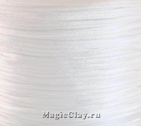 Шнур нейлоновый 1мм Белый, 5 метров