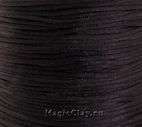 Шнур нейлоновый 1мм Коричневый Темный, 5 метров