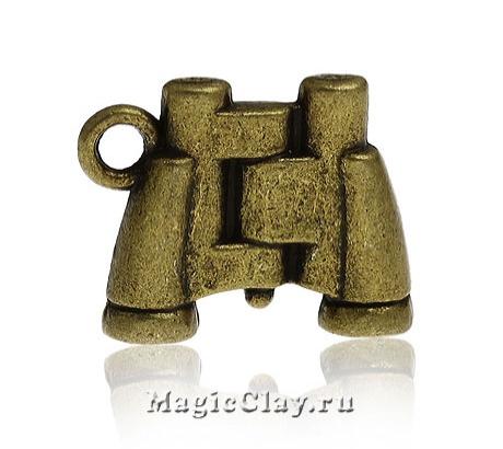 Подвеска Бинокль 17х13мм, цвет античная бронза, 1шт