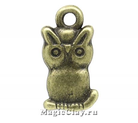 Подвеска Совёнок 19х10мм, цвет античная бронза, 1шт
