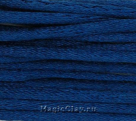 Шнур нейлоновый 2мм Синий Тёмный, 5 метров