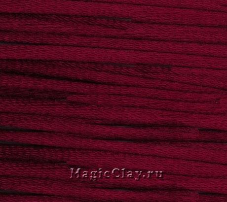 Шнур нейлоновый 2мм Бордовый, 5 метров