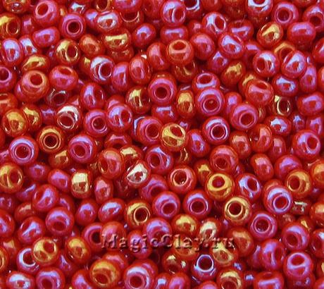 Бисер чешский 10/0 Непрозрачный, 94190 Medium Red, 41гр