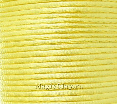 Шнур нейлоновый 2мм Жёлтый Лимонный, 5 метров