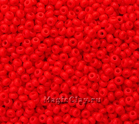 Бисер чешский 10/0 Непрозрачный, 93170 Light Red, 50гр