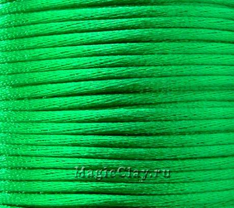 Шнур нейлоновый 2мм Зелёный Яркий, 5 метров