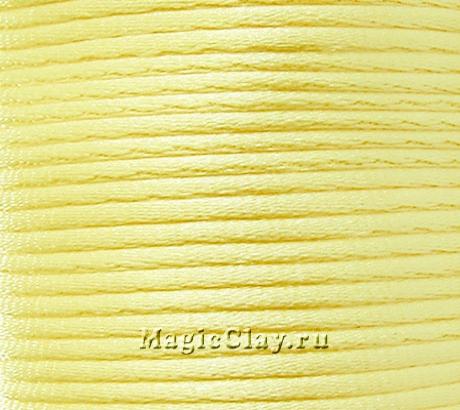 Шнур нейлоновый 2мм Жёлтый Светлый, 5 метров