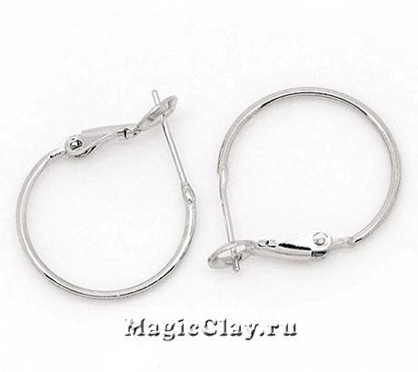 Швензы Кольца 22мм, цвет серебро, 1пара