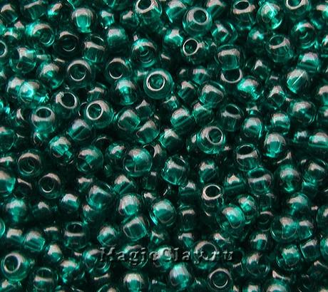 Бисер чешский 10/0 Прозрачный, 50710 Teal Green, 41гр