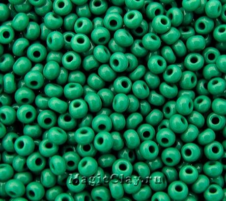 Бисер чешский 10/0 Непрозрачный, 53240 Medium Green, 41гр