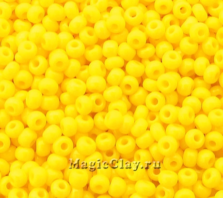 Бисер чешский 10/0 Непрозрачный, 83130 Gold Yellow, 50гр