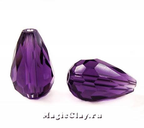 Бусины Капля Фиолетовый Рай 11х8мм, 10шт
