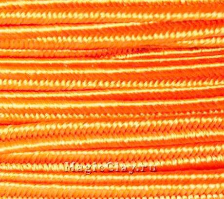 Шнур сутажный 3мм Оранжевый, 2метра