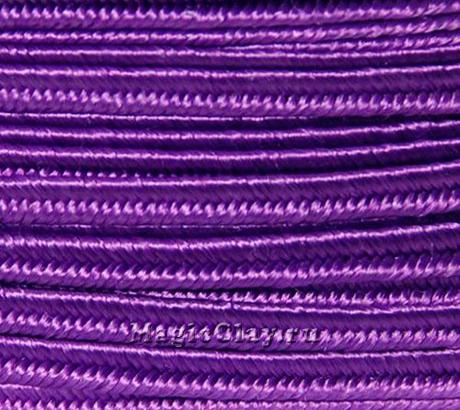 Шнур сутажный 3мм Фиолетовый, 2метра