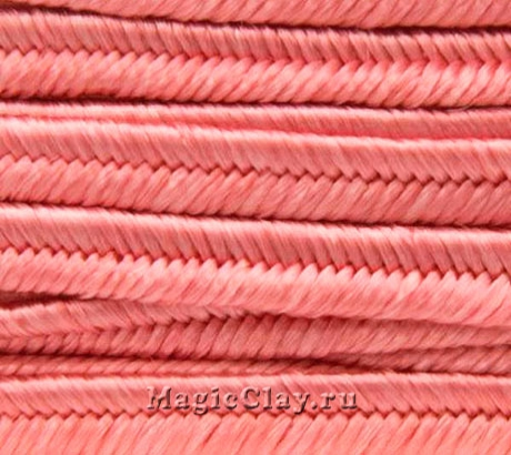 Шнур сутажный 3мм Розовый Тёплый, 2метра
