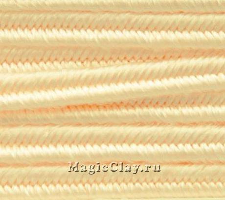 Шнур сутажный 3мм Персиковый, 2метра