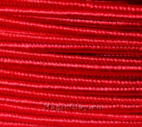 Шнур сутажный 3мм Красный, 2метра