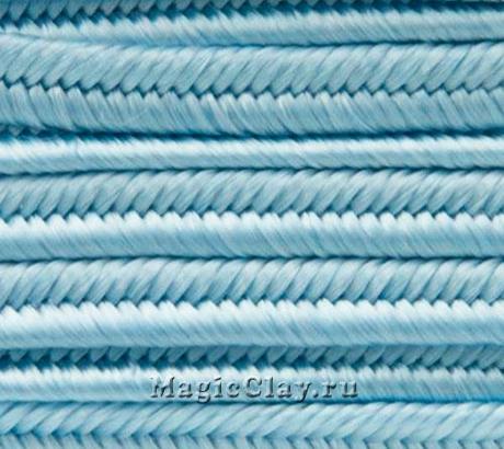Шнур сутажный 3мм Голубой Светлый, 2метра