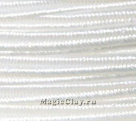 Шнур сутажный 3мм Белый, 2метра