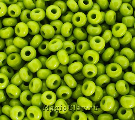 Бисер чешский 10/0 Непрозрачный, 53430 Olive Green, 41гр
