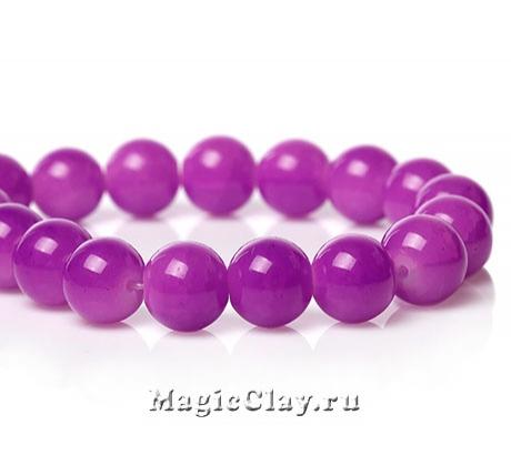 Бусины кракле Опал Фиолетовый 10мм, 1нить (~40шт)
