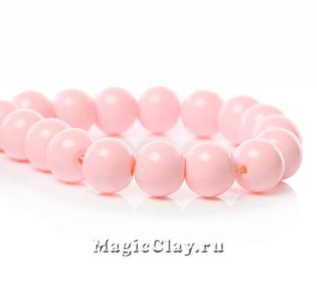 Бусины Глянец Розовый Нежный 10мм, 1нить (~20шт)