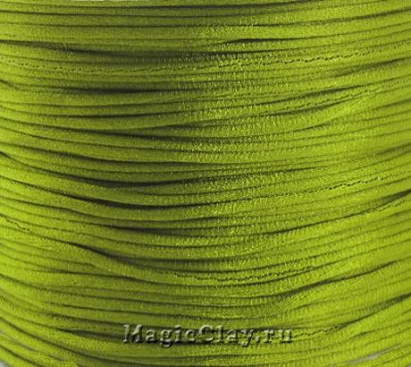 Шнур нейлоновый 1мм Зеленый Лиственный, 5 метров
