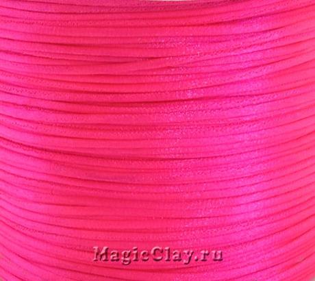 Шнур нейлоновый 1мм Розовый Яркий, 5 метров